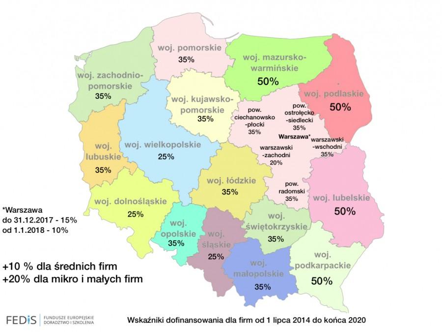 Mapa pomocy regionalnej 2014-2020