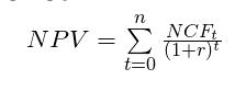 Ogólny wzór na NPV